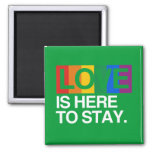 LOVE IS HERE TO STAY -.png Fridge Magnet