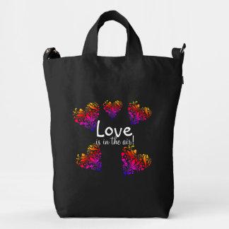 love is in he air backpack duck bag