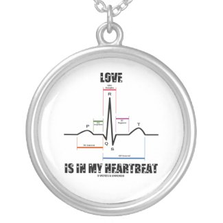 Love Is In My Hearbeat (ECG/EKG Electrocardiogram) Necklaces