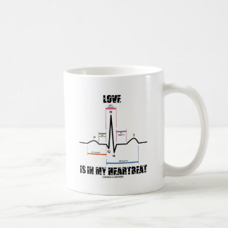 Love Is In My Heartbeat ECG EKG Electrocardiogram Coffee Mug