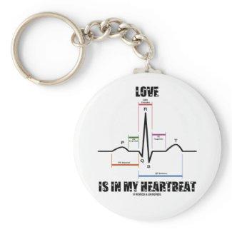Love Is In My Heartbeat ECG EKG Electrocardiogram Key Chains