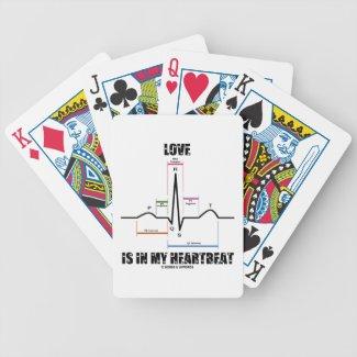 Love Is In My Heartbeat ECG EKG Electrocardiogram Bicycle Card Deck