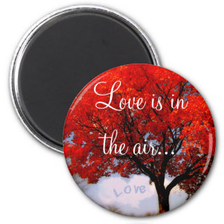 Love is in the air... 2 inch round magnet