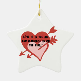 Love Is In The Air and Marriage Is On The Rise!! Ceramic Ornament