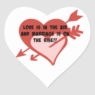Love Is In The Air and Marriage Is On The Rise!! Heart Sticker
