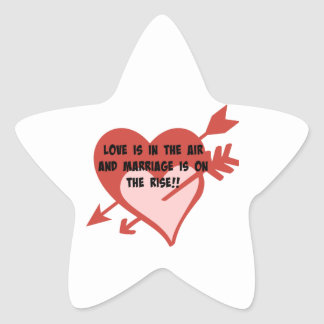 Love Is In The Air and Marriage Is On The Rise!! Star Sticker