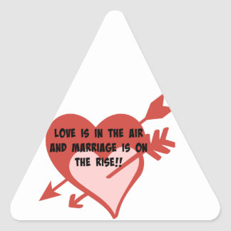 Love Is In The Air and Marriage Is On The Rise!! Triangle Sticker