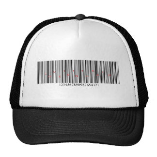 Love is in the air barcode trucker hat