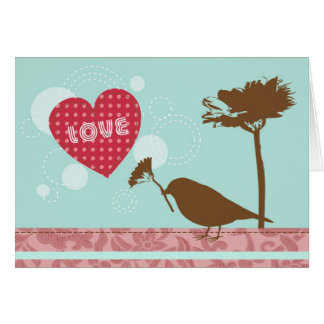 Love Is In The Air Bird Greeting Card