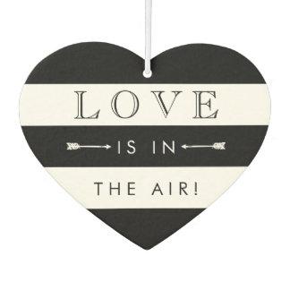 Miscellaneous Air Freshener - Love Is In The Air | Black & White Wedding Favor Car Air Freshener