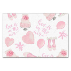 Love Is In The Air Blush Pink Wedding Shoes Cake Tissue Paper