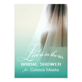 Love is in the Air Bridal Shower   mint ombre Card