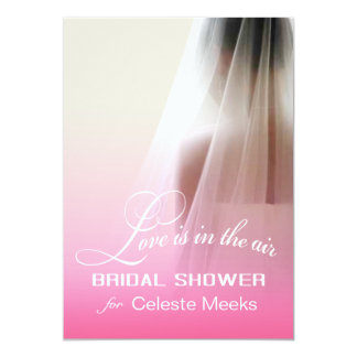 Love is in the Air Bridal Shower   pink ombre Card