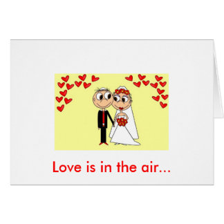 Love is in the air... card