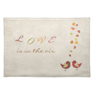 Love is in the air cloth placemat