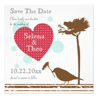 Love Is In The Air Design Save The Date Invitation