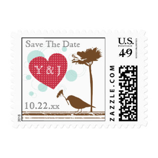 Love Is In The Air Design Save The Date Postage