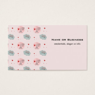Love is in the air eiffel tower and hearts pattern business card