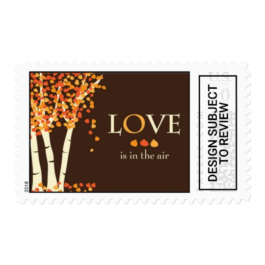 Love Is In The Air Fall Wedding Invitation Stamp Zazzle Com