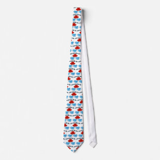 Love Is In The Air Heart Balloons Neck Tie