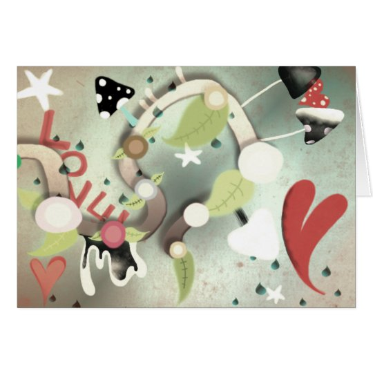 Love is in the air heart card