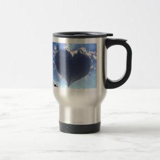 Love is in the Air: Heart Shaped Cloud: Travel Mug
