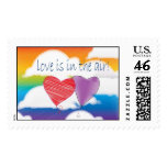 Love is in the air heart stamps