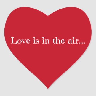Love is in the air heart sticker