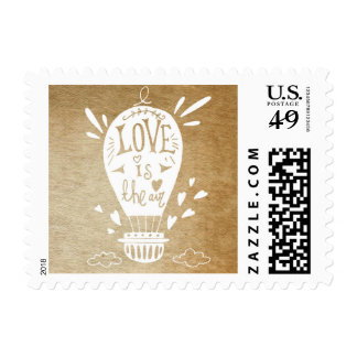 Love is in the Air-Hot Air Balloon Wedding Postage