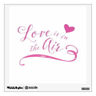 Love is in the Air Hot Pink Valentine's Day Wall Sticker