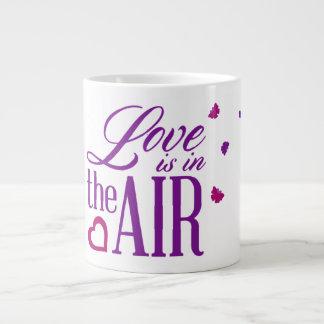'Love is in the air' Jumbo Mug