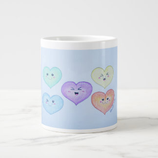Love is in the air large coffee mug