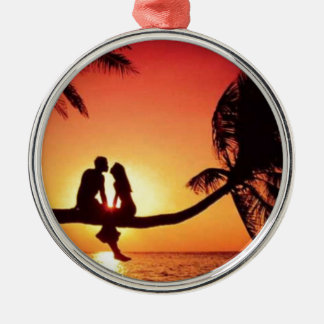 love is in the air metal ornament