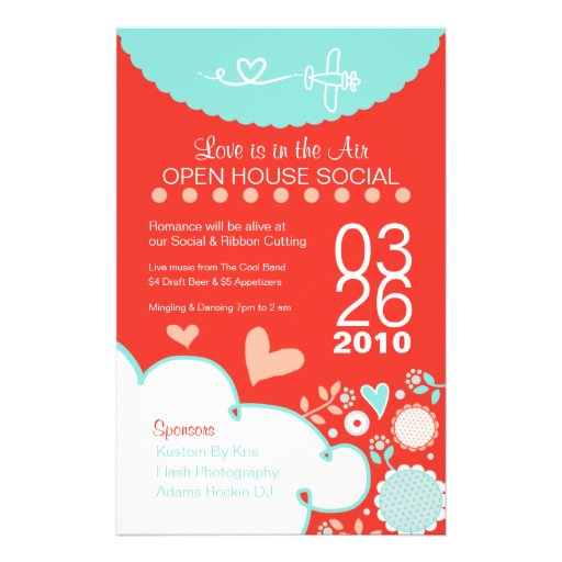 184 open house flyers open house flyer templates and printing zazzle. Black Bedroom Furniture Sets. Home Design Ideas