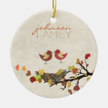 Love is in the air Double-Sided ceramic round christmas ornament