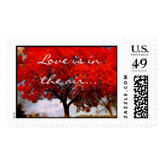 Love is in the air... postage stamp