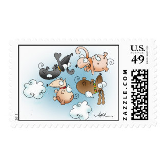 LOVE IS IN THE AIR Postage Stamp
