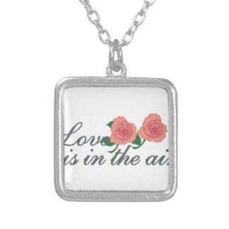 Love Is In The Air Square Pendant Necklace