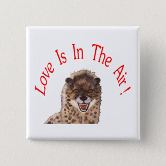 """Love Is In The Air"" Square Pin"