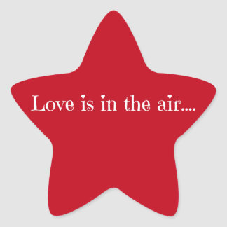 Love is in the air star sticker