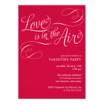 """Love is in the Air"" Stylish Valentines Day Party 5x7 Paper Invitation Card"