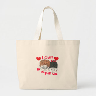 """LOVE IS IN THE AIR"" TOTE BAG WITH CUTE FACES"
