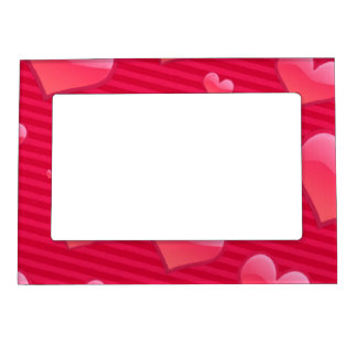 Love is in the Air Valentine Hearts Photo Frame Magnet
