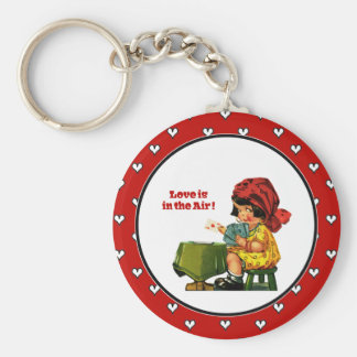 Love is in the Air. Valentine's Day Gift Keychains