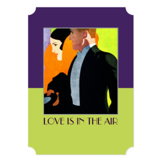 Love is in the Air Valentines Day Party Invitation