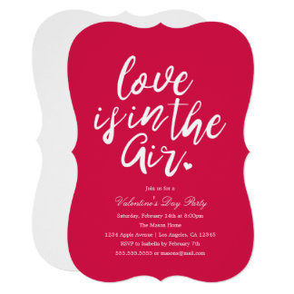 invitations love is in the air valentines day party invite - Valentines Dy