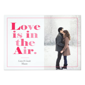 Love is in the Air Valentine's Day Photo Card