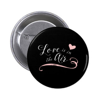 Love is in the Air -  Vintage Chalkboard Style Pinback Button