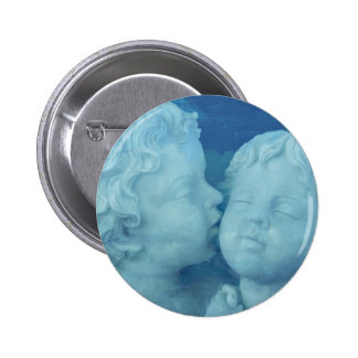 Love is in the Air, Vintage Stone Angels Kissing Pinback Button