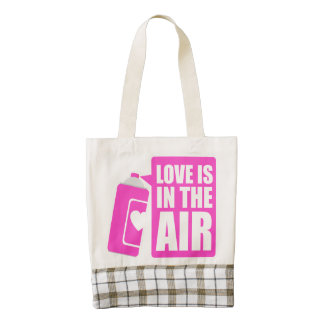 Love Is in The Air Zazzle HEART Tote Bag